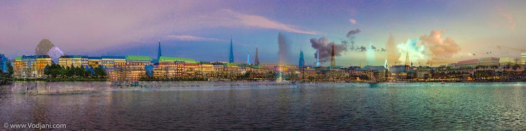 Alster Panorama - Jungfernstieg - IIa
